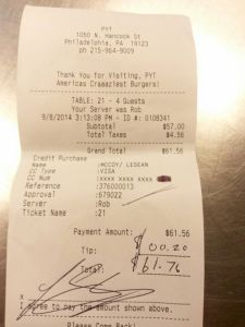 Apparently LeSean McCoy Isn't Much Of A Tipper