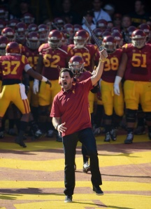 Matt Leinart Doesn't Want To Grow Up. Leads USC Onto Field... Again