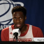 PICS: Nigel Hayes Shares His Expression For Using Kobe Bryant's Locker