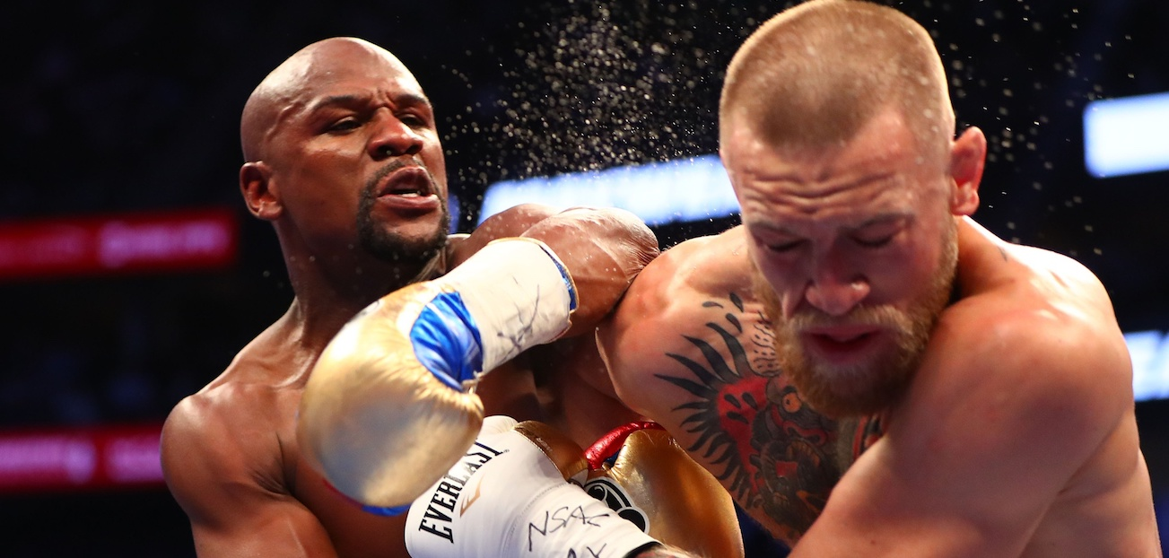 PHOTOS: Best Moments From The Mayweather vs. McGregor Fight