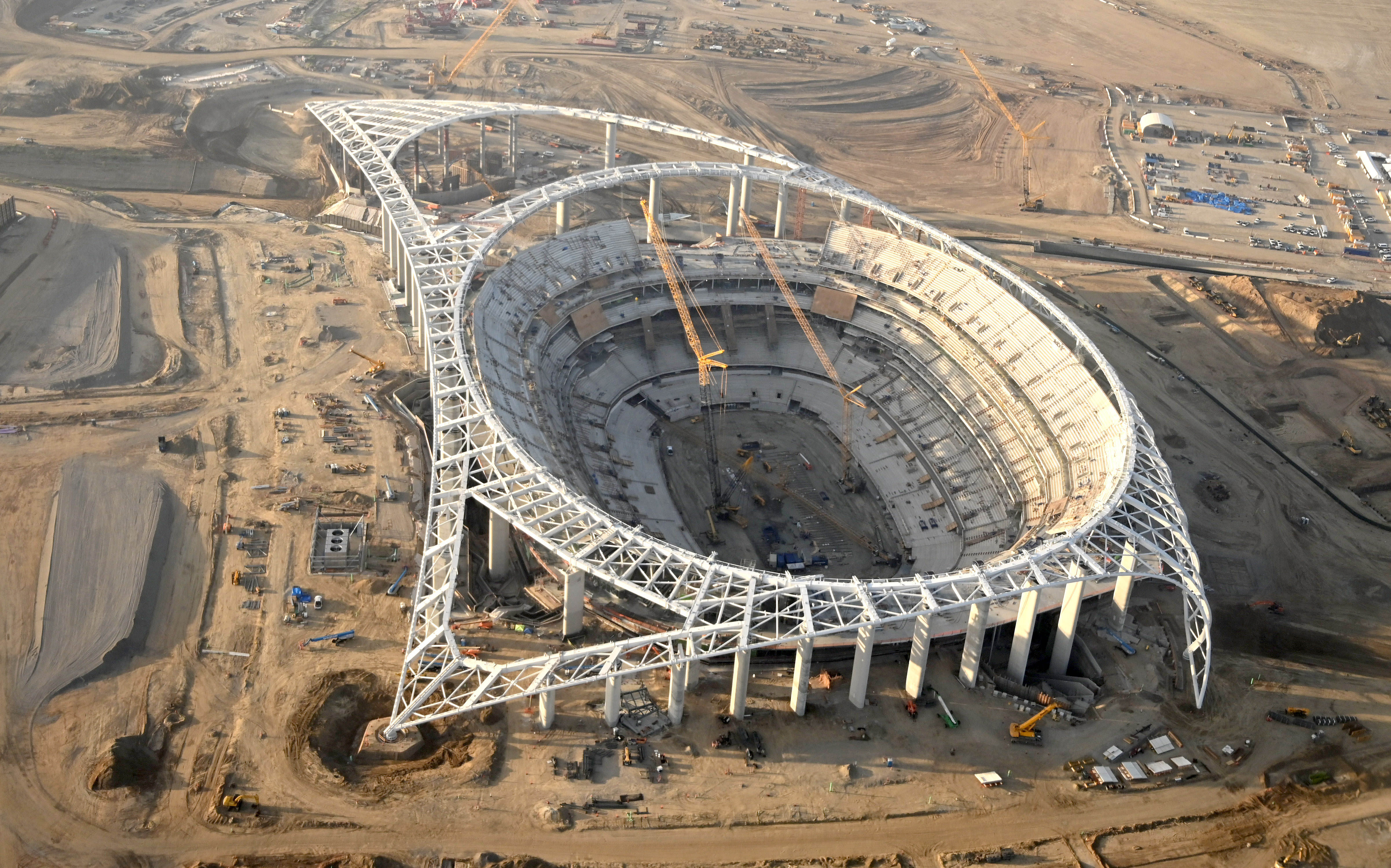 VIDEO: View From Inside The New Rams & Chargers Stadium In Los Angeles